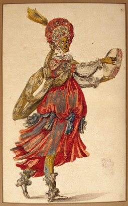Ecole de Jacques Bellange, danseuse
